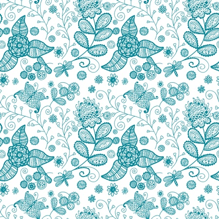 Seamless pattern with  flowers Stock Vector - 16250857