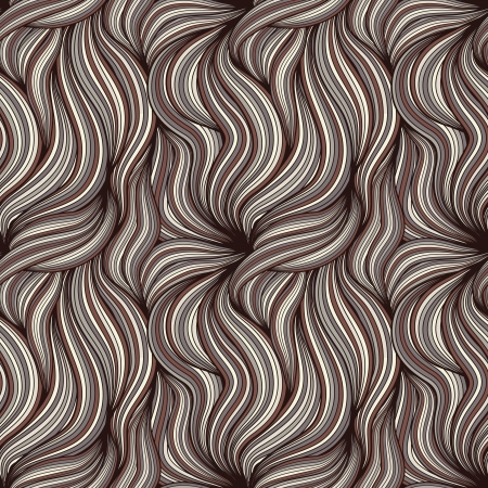 Brown seamless background with hair Stock Illustratie
