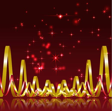 Christmas background with serpentine  Vector