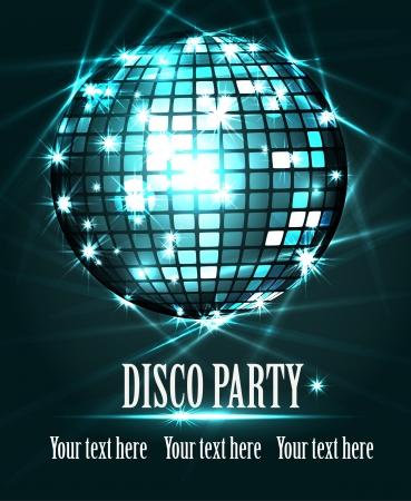 disco parties: Bola de discoteca Vectores