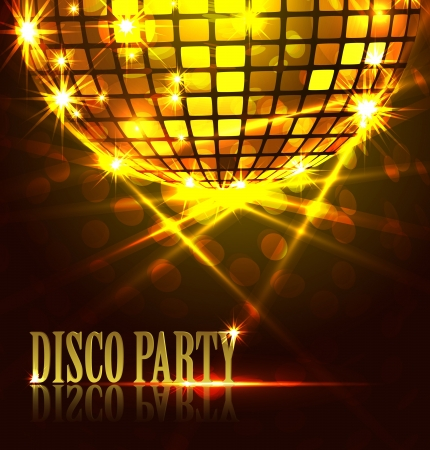 achtergrond disco party