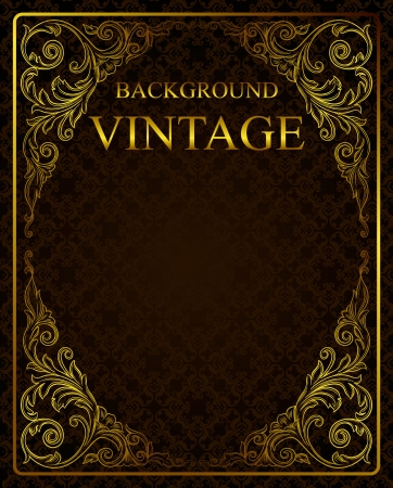 Vintage background with golden elements  Stock Vector - 16843177