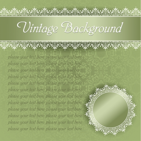 green vintage template for the certificate
