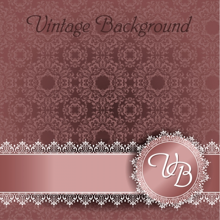 lace background with space for text Vector