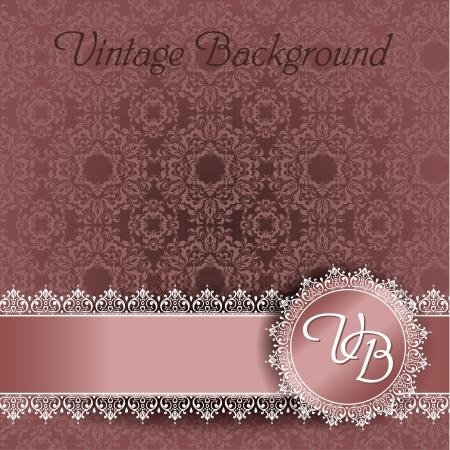 wedding backdrop: pizzo sfondo con spazio per il testo Vettoriali