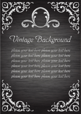 vintage template blank Vector