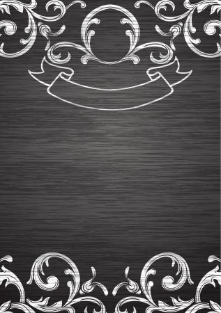 ビンテージ テンプレート ブランク