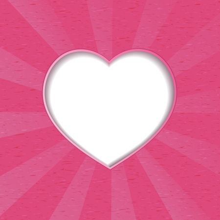 background with space for text in the form of heart Vector