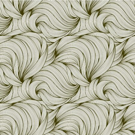 seamless pattern of curls  Vector