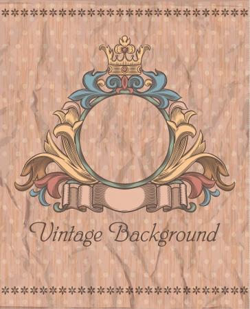 emblem on the vintage background Illustration