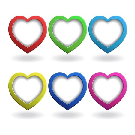 Heart 3d, button Stock Vector - 17230576