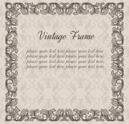 vintage blank seamless pattern Stock Vector - 17454264