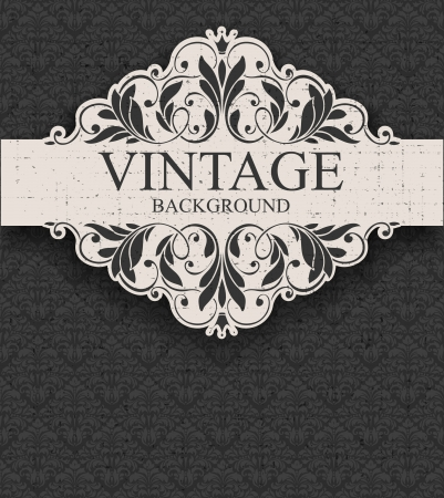 Vintage frame and seamless pattern Stock Vector - 17740978