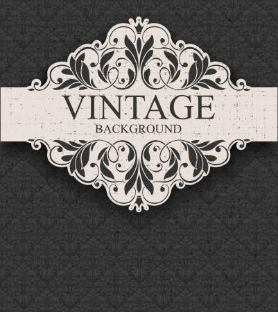 Vintage-Rahmen und nahtlose Muster Standard-Bild - 17740978