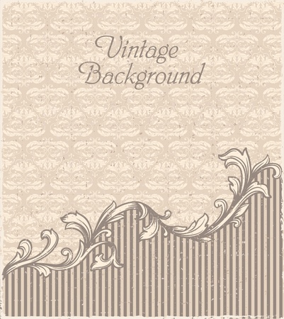 Vintage frame and seamless pattern Stock Vector - 17740980