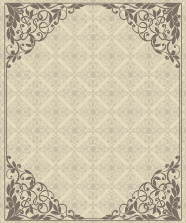 Vintage frame and seamless pattern Stock Vector - 18435104