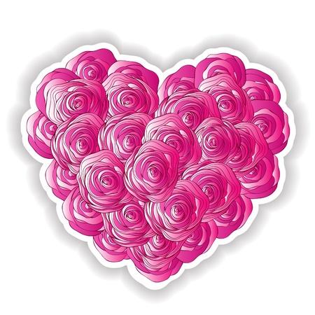 rose garden: heart of roses