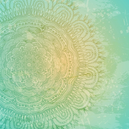grungy background: Ornamental  lace pattern and grungy background