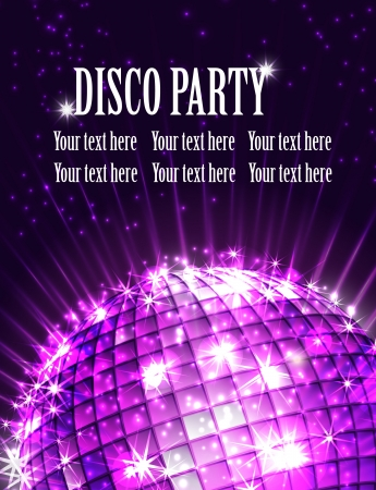 background disco party  Vector