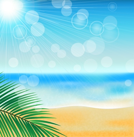summer sea beach Vector