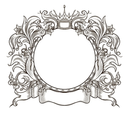 black and white  insignia isolated Stock Illustratie
