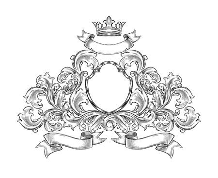 Zwart en wit insignia geïsoleerde Stockfoto - 21074990