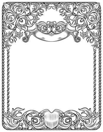 black and white frame for blank,  isolation Vector