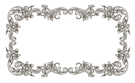 black and white frame in the Renaissance Illustration