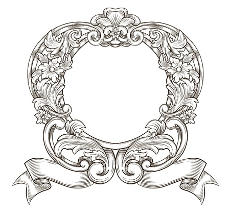 filigree background: Vintage emblem