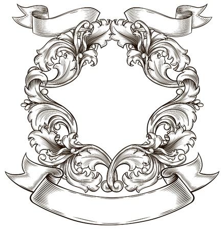 isolation: black old emblem, isolation, Renaissance Illustration