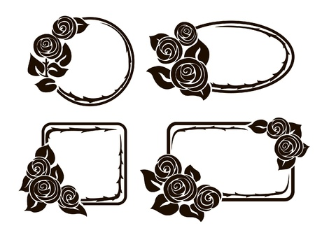 ceremonial makeup: Frames with roses.