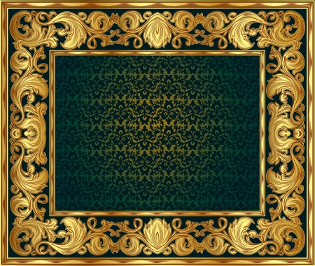 gold ornate frame. You can disable the internal red background and insert your  Illustration