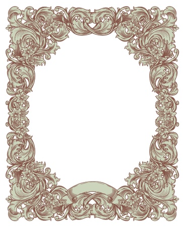 Black And White Frame In The Renaissance Royalty Free Cliparts ...