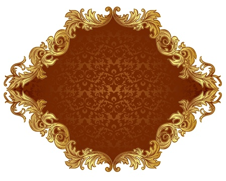 ornate frame with brown insert in the Renaissance