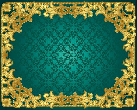 antique gold frame in the Renaissance Vector