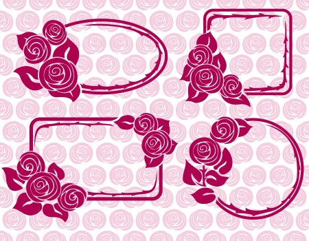ar: Banners and Frames with roses
