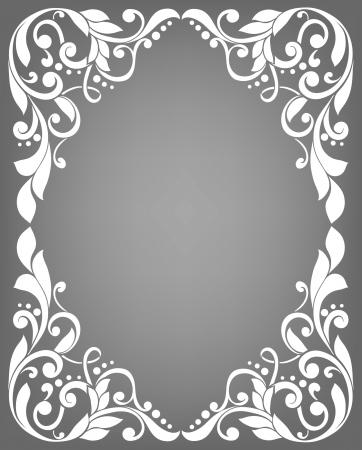 Vintage filigree frame Vectores