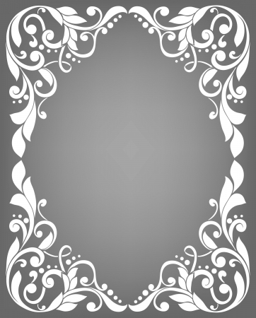 Vintage filigree frame Stock Illustratie