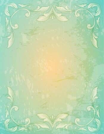 grungy background: Ornamental  lace patternand  and grungy background