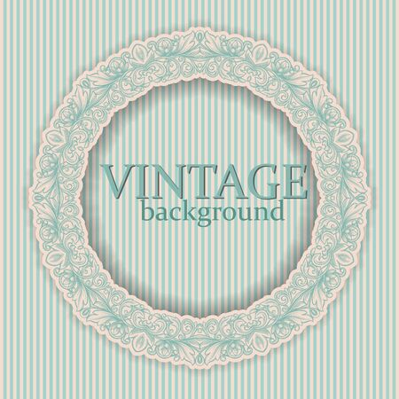 round frame with vintage ornament Stock Vector - 21393359