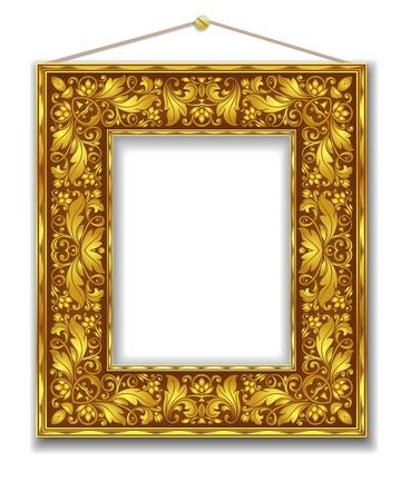 gold frame Stock Vector - 21603296