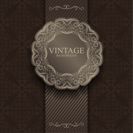baroque pattern: vintage background