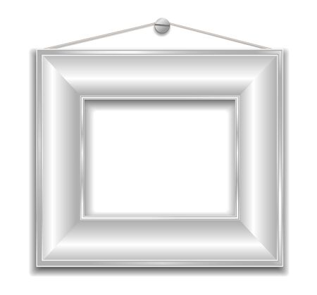 silver, white frame  Stock Vector - 21603301