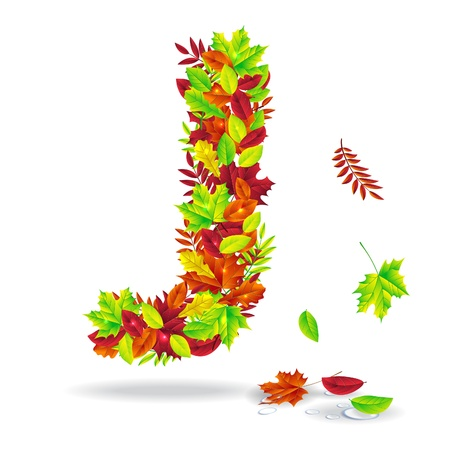 autumn letters with drops of water Vector