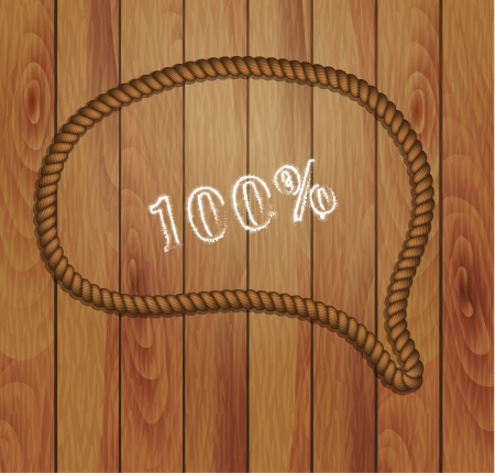 frame of rope and wood background  Vector