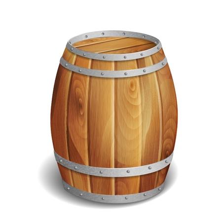 wooden barrel  Vectores
