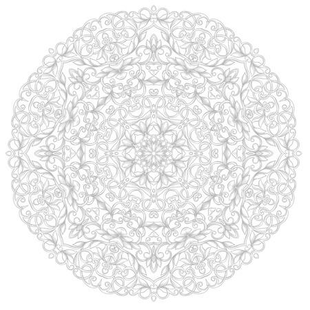 moroccan: Round ethnic pattern Illustration