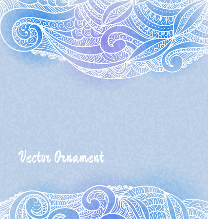 Сard with ornaments hand-drawn, pattern in engineering zentangle. Invitation card. Vector