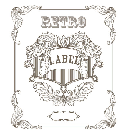 Vintage banner. Template certificate, diploma. Elements of retro design. Vector