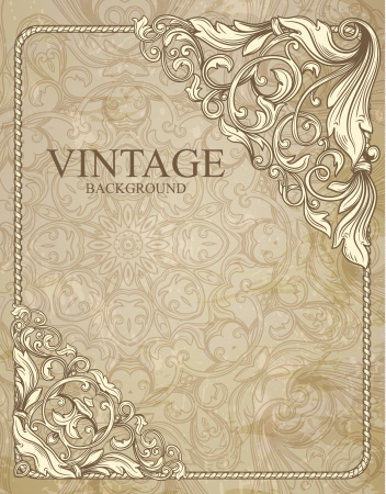 baroque pattern: vintage background  Illustration
